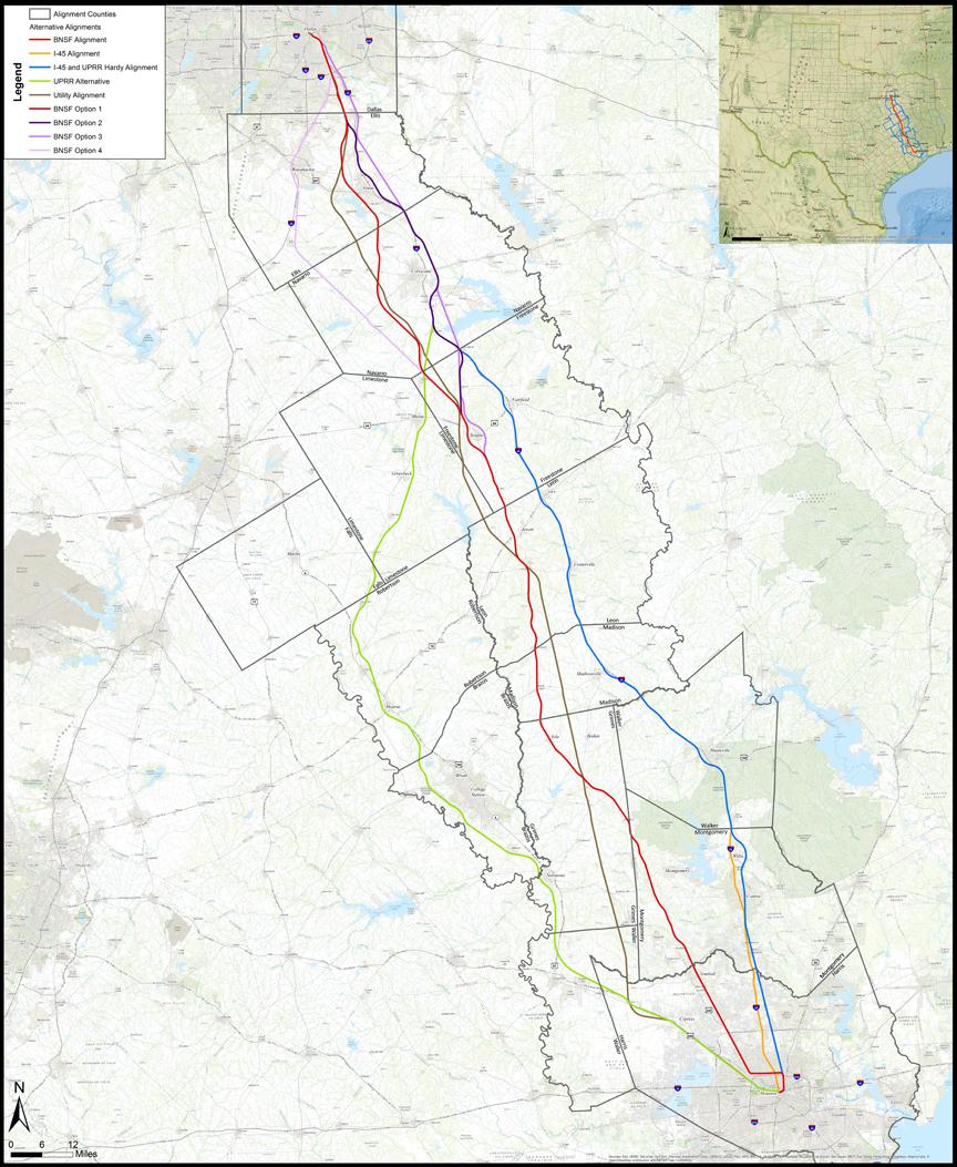 Dallas High Speed Rail Map Houston