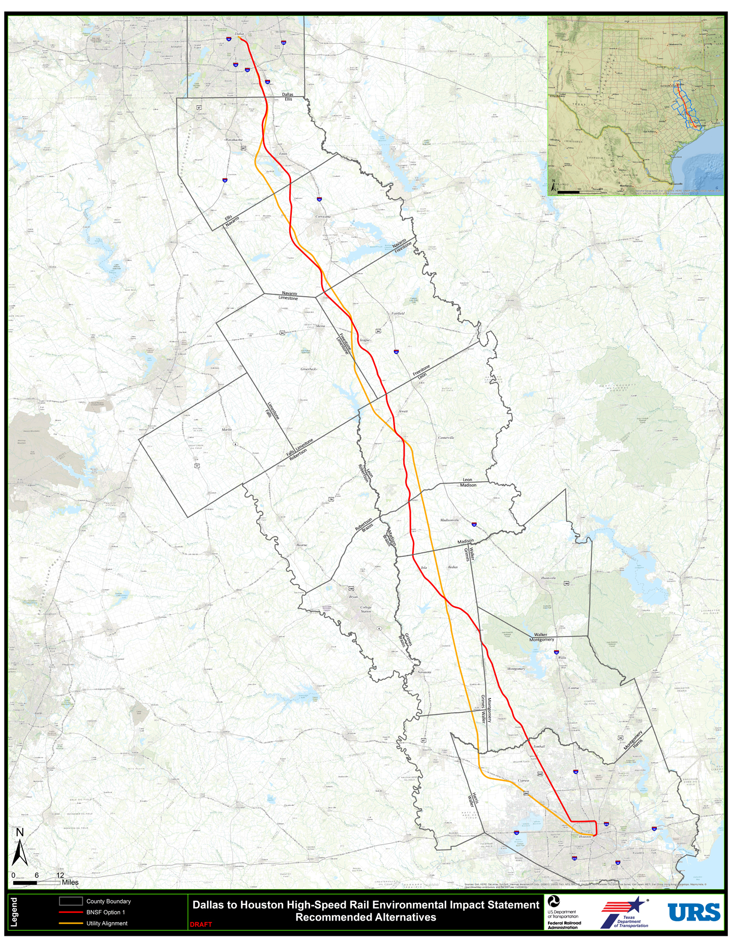 High Speed Rail Firm Examining I Route Houston Chronicle - Us highway map route 10